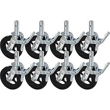 Andamio ruedas con freno de pie - 8-PK., Modelo # m-mbc8 K8: Amazon.es: Electrónica