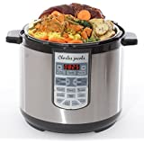 Charles Jacobs 2017 Electric 7in1 Pressure Cooker 8 Litre 1250W Brushed Stainless Steel 17 Programme Multi Cooker