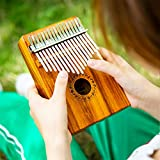GECKO Kalimba 17 Keys Acacia(KOA) Thumb Piano and