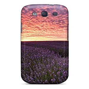 Chenzong Premium Protective Hard Case For Galaxy S3- Nice Design - Field With Lavender