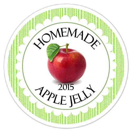 36 Kitchen Labels, Apple Jelly Canning stickers, Canning Labels, Homemade Kitchen Stickers