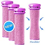 Emjoi Micro-Pedi Refill Rollers - Extra Coarse SoftFLEX Replacement Rollers - Pack of 4