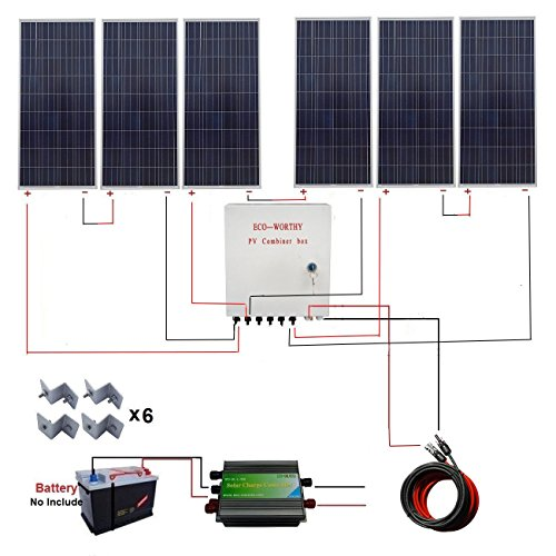 ECO-WORTHY-900-Watt-24-Volt-Solar-Panel-Off-Grid-RV-Boat-Kit-with-45A-PWM-Charge-Controller