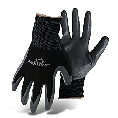 Boss Gloves 8442M Medium Black and Gray Nylon With Nitrile Coated Palm Gloves