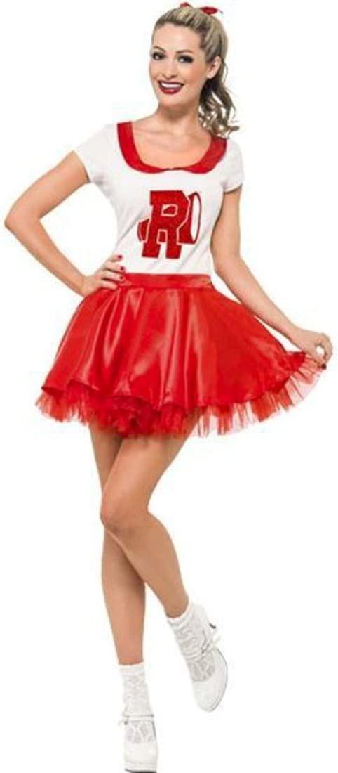 Mujer Sandy De Grease Cheerleader Disfraz Talla L: Amazon.es ...