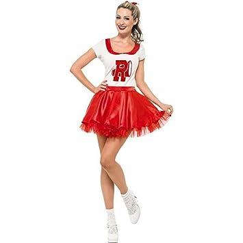 b09684534066 Ladies Sandy From Grease Cheerleader Fancy Dress Costume Size Medium 12 to  14
