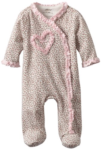 Infant Girls Leopard (Little Me Baby Girl Newborn Leopard Footie, Pink, 6 Months)