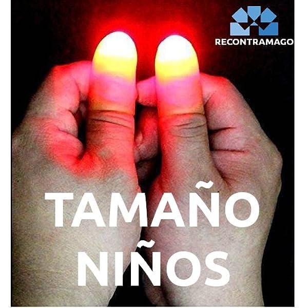Trucos de Magia para Niños - Magia con Luces Rojas Dedos + Tutorial Online: Amazon.es: Juguetes y juegos