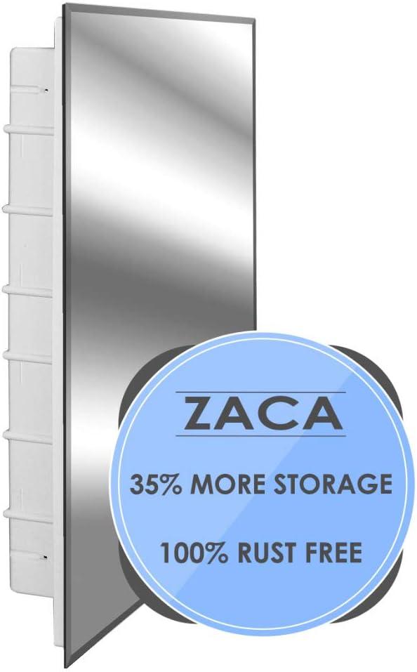 Zaca Spacecab Nunki Recessed Beveled Edge Medicine Cabinet, 16 W x 26 L