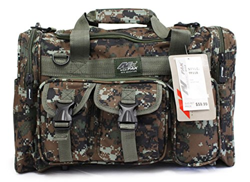 18″ 1800cu.in. NexPak Tactical Duffel Range Bag TF118 DMBRN Digital Camo Brwon