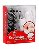 Cakeware 12 Piece Cake Decorating Set Frosting Icing Piping Bag Tips with steel nozzles. Reusable & Washable.