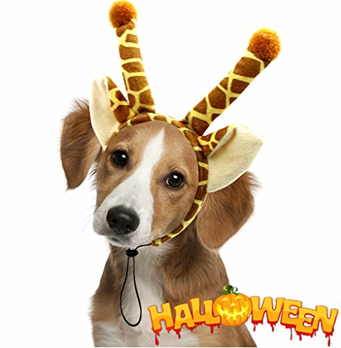Halloween Dog Headband Costumes-Holiday Wearable Giraffe Accessory,for Medium and Large (Deer Costume For Dog)