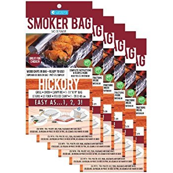 Camerons Products Smoker Bags - Set of 6 Hickory Smoking Bags for Indoor or Outdoor Use - Easily Infuse Natural Wood Flavor by Camerons Products