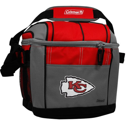 NFL Kansas City Chiefs 24 Can Soft Sided Carry Coleman Cooler