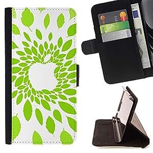 - Apple Leaf Green Nature/ Personalizada del estilo del dise???¡¯???¡Ào de la PU Caso de encargo del cuero del tir???¡¯????n del s - Cao - For HTC One M8