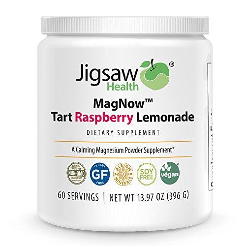 Jigsaw Health MagNow™ - Tart Raspberry Lemonade Magnesium Powder - 60 servings