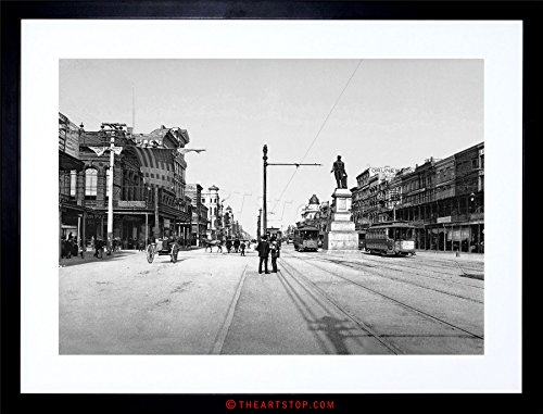New Orleans Canal Street - The Art Stop Vintage Photo Canal Street New Orleans 1900 USA Framed Print F97X2893