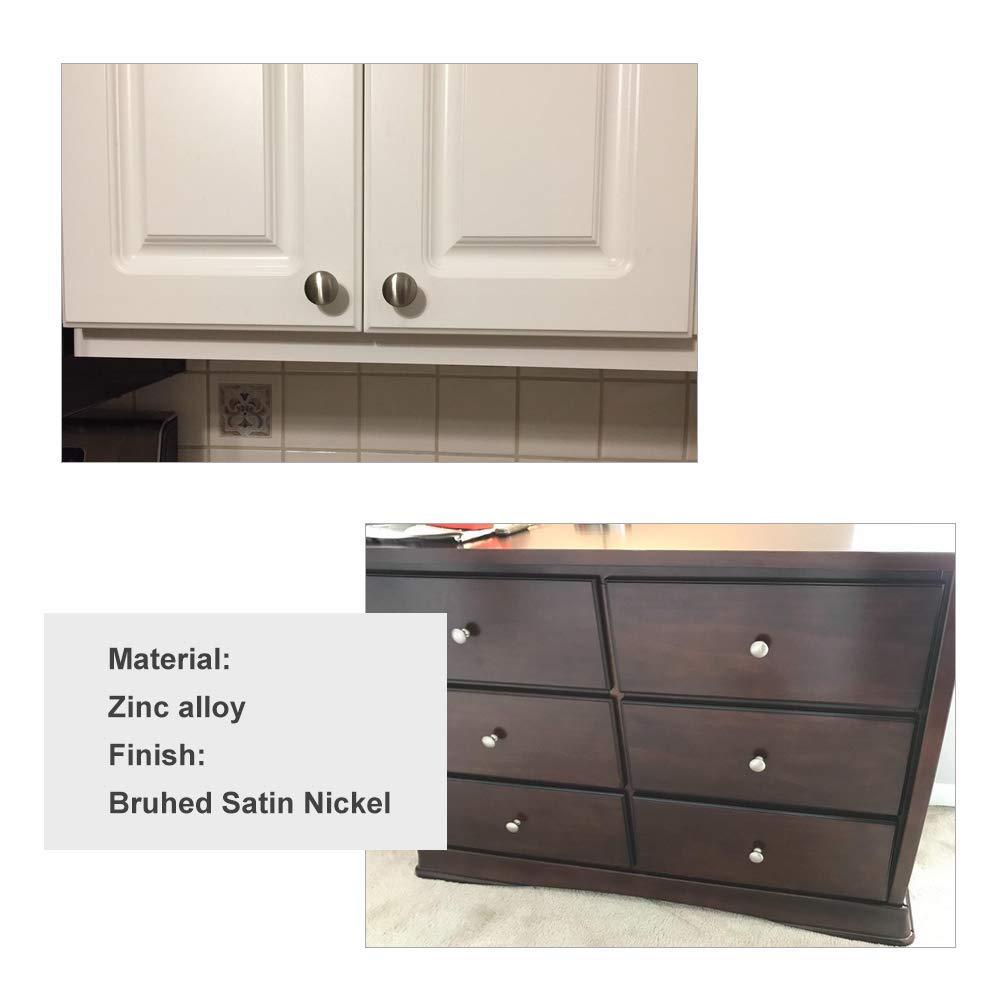 homdiy Round Cabinet Knobs Satin Nickel 20 Pack HD6050SNB Drawer Pulls and Knobs Metal Drawer Pulls Kitchen Cabinet Hardware Knobs