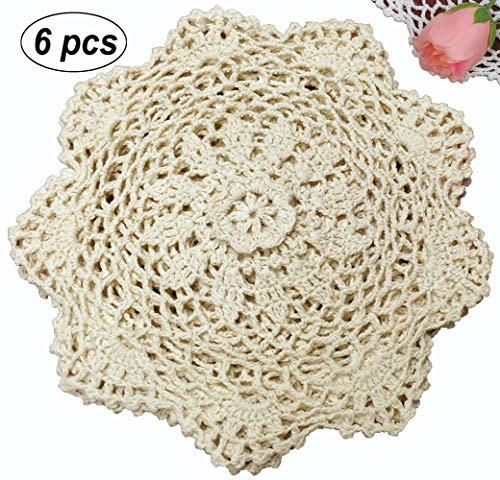 Doily Handmade New Crocheted - Creative Linens 6PCS 8