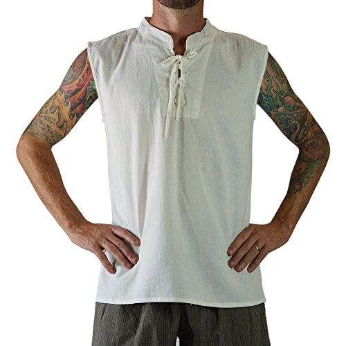 'Rogue Shirt', Renaissance Clothing, Medieval Clothing, Steampunk, Sleeveless Pirate Shirt, Viking - ()