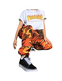 Vanvler Women Camo Cargo Pants Ladies Loose Casual Trousers Sport