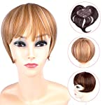 Ty.Hermenlisa Synthetic Clip in Hair Bang Heat Resistant Short Straight Fringe Extensions Top Piece Closure Hairpieces, 1 Pc, 39g, Emma by Qingdao Tianyuan Hair Crafts Co., Ltd