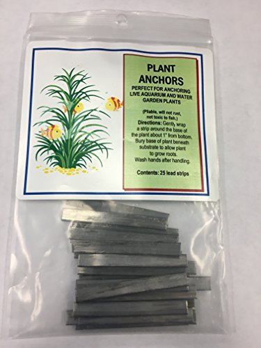 Plant Anchors / Weights 25 Pk Strip Lead Ribbon Live Plants Like Supa Big 10