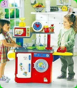 Fisher Price Learning Fun Kitchen Multi Wash And Center Red 74808 Amazon De Spielzeug