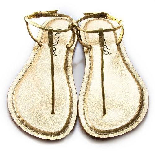 Bernardo Womens Milly Gold Sandals 10.5 M