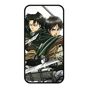 The Hot Japanese Anime Attack on Titan Fashion Style for Iphone4/4s Best Rubber Cover Case-Creative New Life