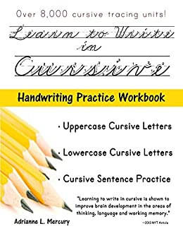 Amazon learn to write in cursive over 8000 cursive tracing learn to write in cursive over 8000 cursive tracing units for beginners by fandeluxe Gallery