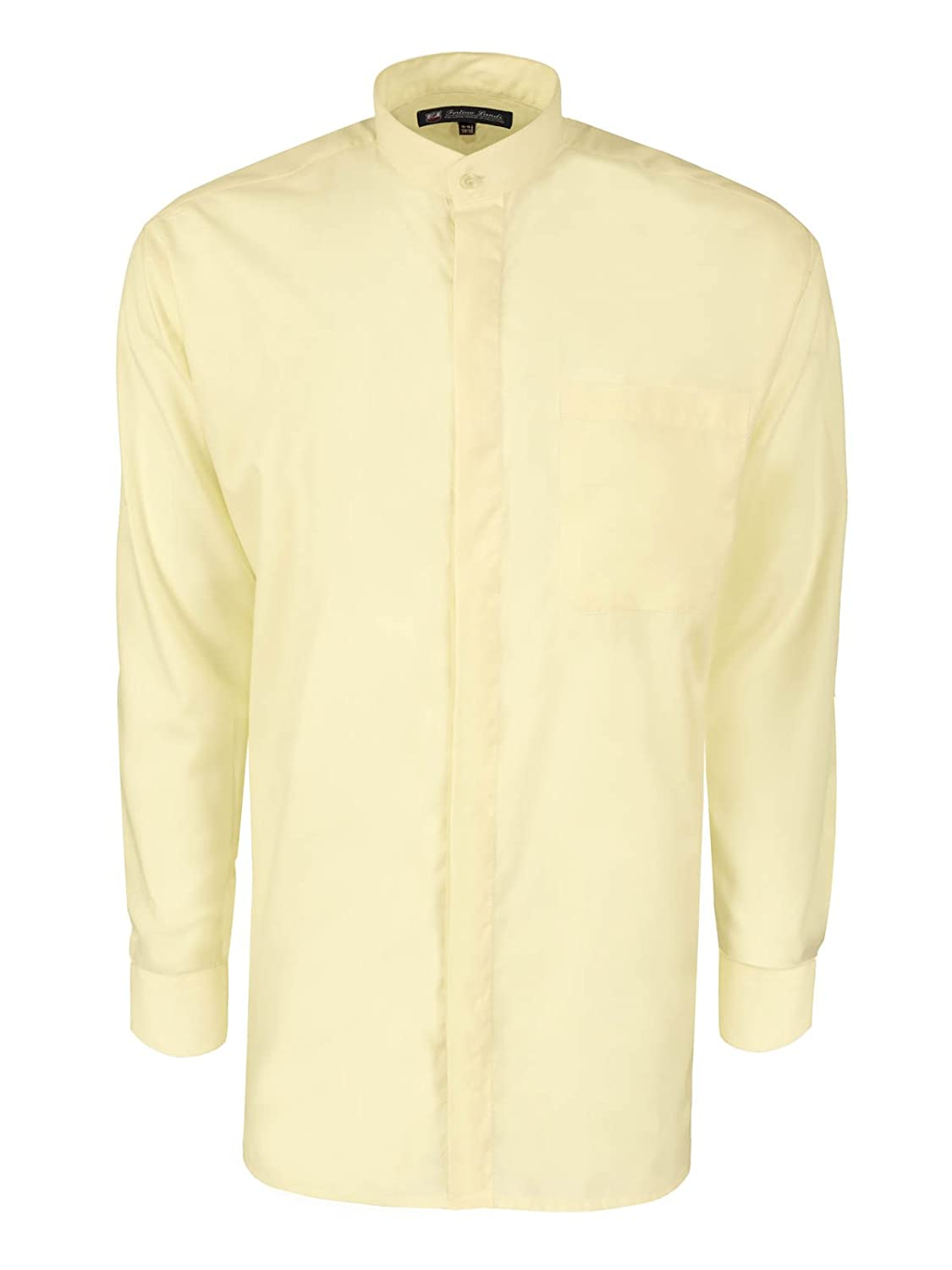 1920s Style Mens Shirts  Long-sleeve Banded Collar Shirt - Many Colors Available $18.99 AT vintagedancer.com