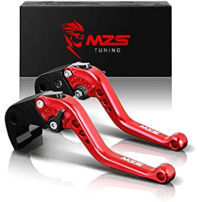 Short Brake and Clutch Levers for SUZUKI HAYABUSA//GSXR1300 99-07,DL1000 Vstrom 02-17,GSX650F 08-15,TL1000R 98-03,SV1000//S 03-07,GSX1400 01-07,GSX1250F 10-16,GSF1250 07-15,GSF1200 01-06 POWTEC