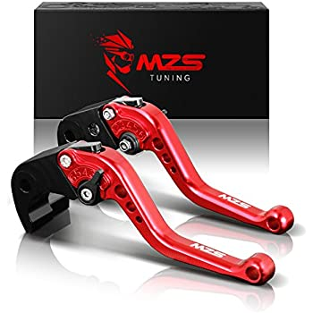 MZS Short Levers Brake Clutch Adjustment CNC for Yamaha YZF R1 2002-2003/ YZF R6 1999-2004/ FZ1 Fazer FZS1000 FZS1 2001-2005/ R6S USA Version 2006-2009/ R6S ...