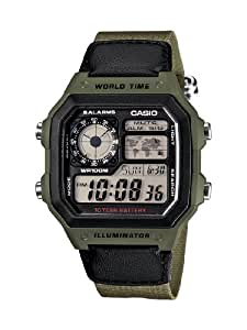 Casio Men's AE1200WHB-3BV 10 Year Battery Watch