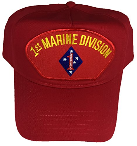 1ST MARINE DIVISION HAT - RED - Veteran Owned Business (Division Marine Hat)