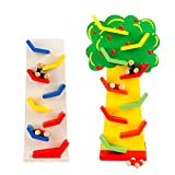 Jia Jia Trade Marble Run Play Set, Mini Gliding car Slide Maze Roller wooden Toys for Children Boy & Girl