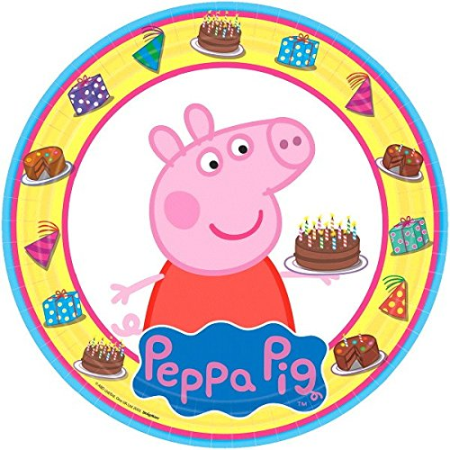 American Greetings Peppa Pig Paper Dinner Plates, -