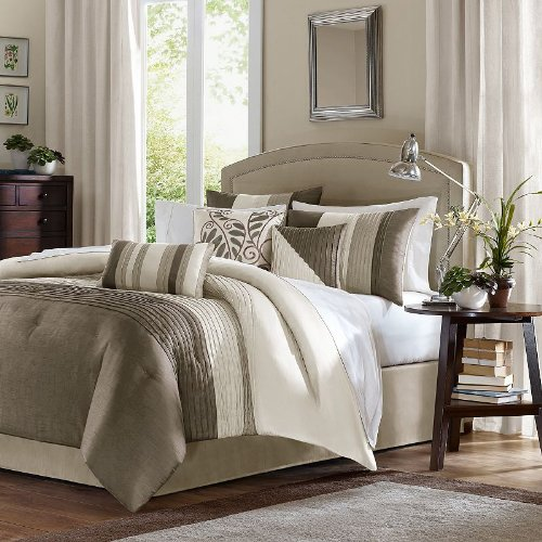 Stunning Amherst Piece Comforter Set Color Natural Size King