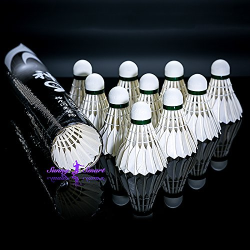 Shenyan Goose Feather Badminton Shuttlecocks/Birdies Training 1 Dozen