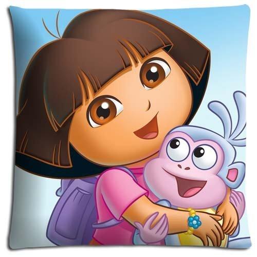 amazing Dora the Explorer Decorative Square Throw Pillow Case Personalized Cushion Cover Home Decorative Pillow Cover 18x18 ()