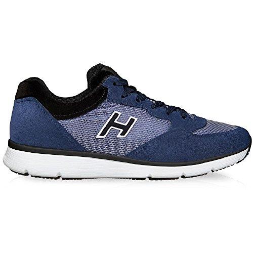 Hogan Sneakers Suede con Inserti in Tessuto Tecnico - Codice Modello: HXM2540S421BZ9897M Blu