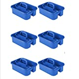 Akro-Mils Tote Caddy - 18-1/4 X13-3/4 X8-3/4'' - Blue - Lot of 6