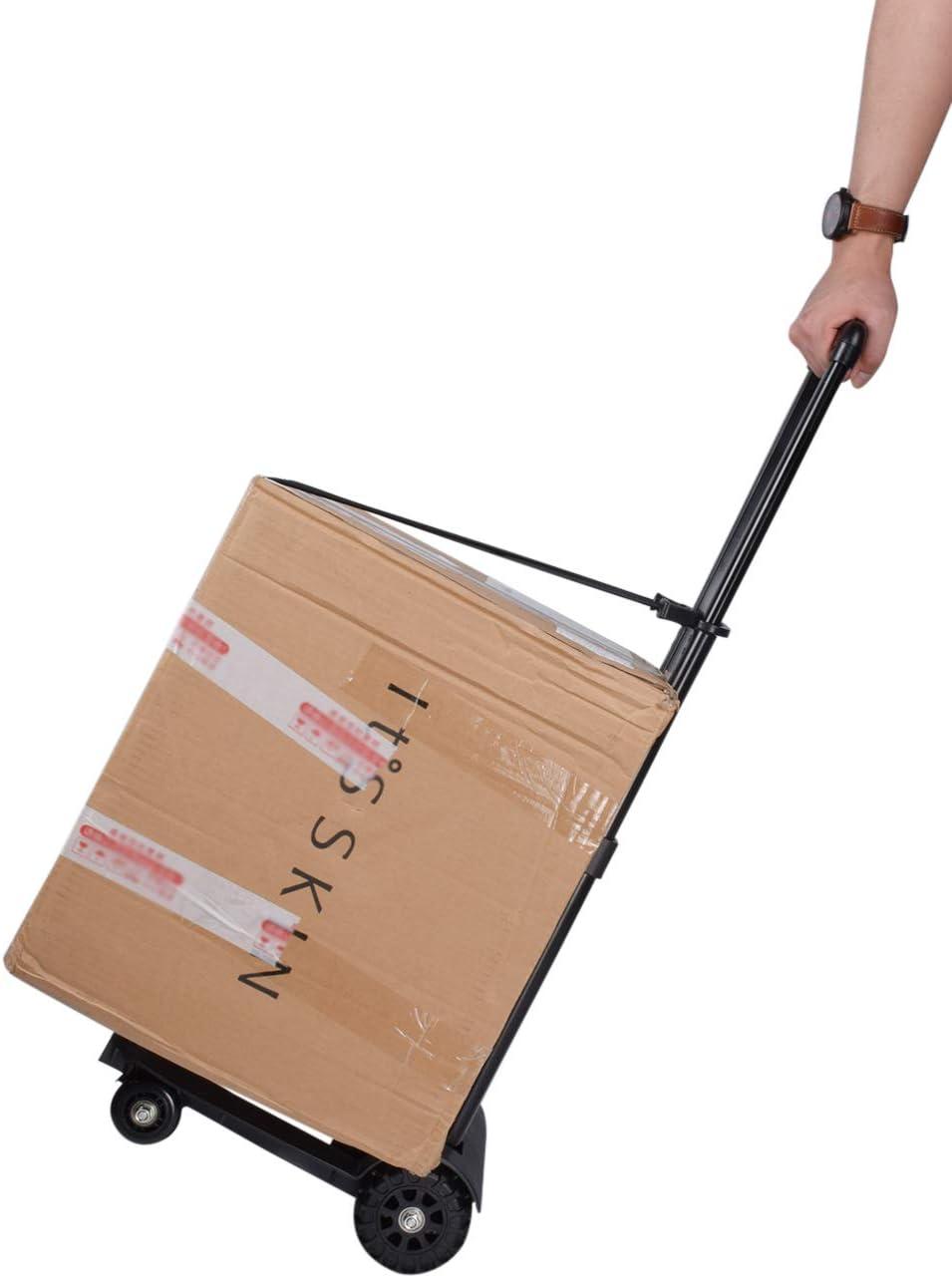 SPDYCESS Carrello Portaspesa Pieghevole Carrello della Spesa Passeggino di Mercato capacit/à 70kg Trolley Shopping Bag Bagaglio con 4 Ruote Carretto a Mano Trasporto