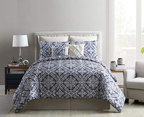 VCNY Home Sofital Comforter Sets, Queen, Charcoal