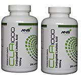 CLA 400 1000mg Softgel Capsules | MONEY BACK GUARANTEE | All Naturals PREMIUM Conjugated Linoleic Acid is derived from SAFFLOWERS | A good quality CLA can help to REDUCE BODY FAT and PROMOTES LEAN MUSCLE | Every container is INDIVIDUALLY SEALED for your p