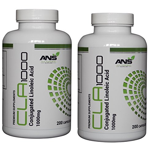 CLA 400 1000mg Softgel Capsules | MONEY BACK GUARANTEE | All Naturals PREMIUM Conjugated Linoleic Acid is derived from SAFFLOWERS | A good quality CLA can help to REDUCE BODY FAT and PROMOTES LEAN MUSCLE | Every container is INDIVIDUALLY SEALED for your p by All Natural Supplies