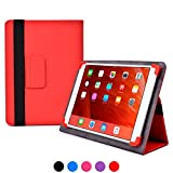 Apple iPad 1 / 2 / 3 / 4 / Air / Air 2 case, COOPER INFINITE ELITE Protective Rugged Shockproof Carrying Universal Portfolio Case Cover Folio Holder with Built-in Stand (Red)