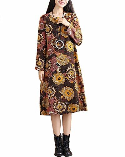 Print Cotton Maxi Dress - 9