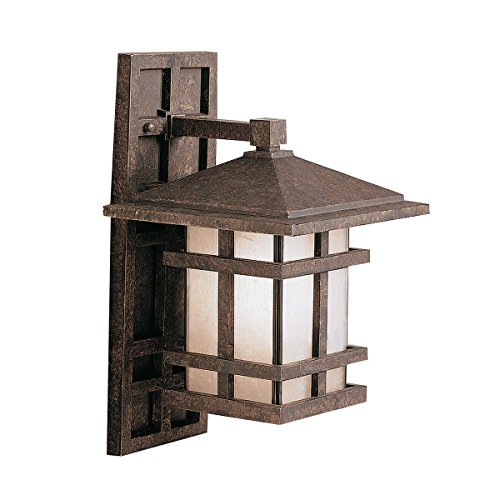 Aged Bronze Cross Creek Collection 1 Light 16in. Outdoor Wall Light